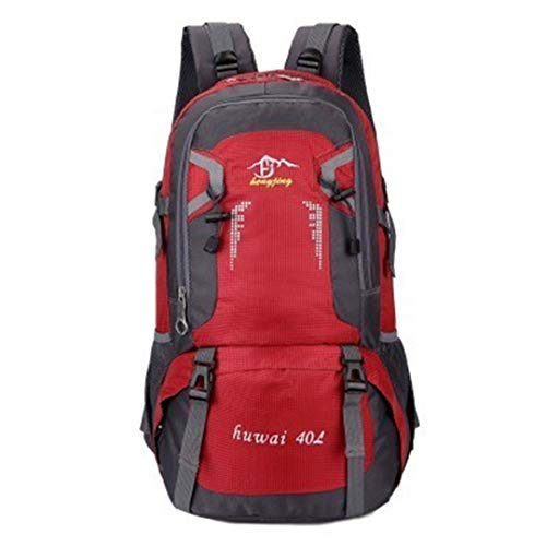40L/60L Waterproof Outdoor Travel Backpack Camping Trekking Bag Climbing Hiking Fishing Cycling Backpack 40L Red