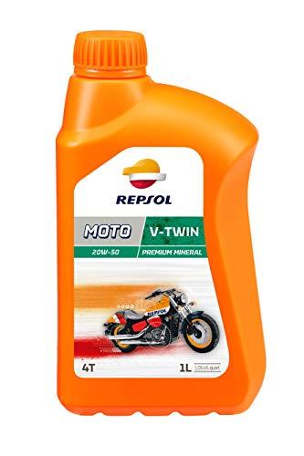 REPSOL Moto V-Twin 4T 20W-50 Aceite De Motor Para Moto, 1L