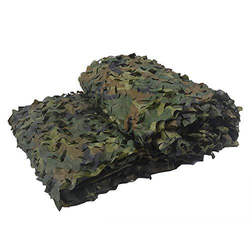 GASSNAKE Filet de Camouflage Militaire Woodlands Feuille 2 m X 3 m