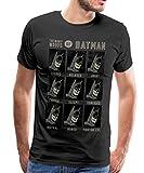 DC Comics Originals Portraits De Batman T-Shirt Premium Homme, M, Noir