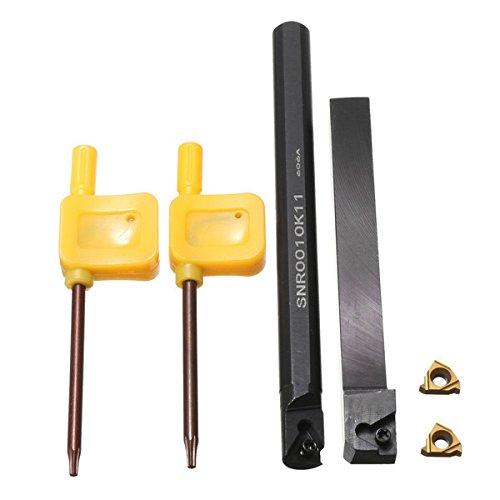 EsportsMJJ Ser1010H11/SNR0010K11 10mm Drehmaschine Index Gewinde Drehen Werkzeughalter Set