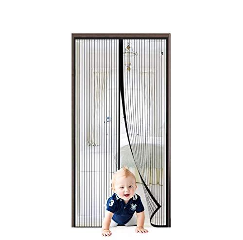 Flei Porta zanzariera Magnetica 120x250cm, Anti Zanzare Calamite Tenda, Chiuso automaticamente Pieghevole Rete, for Corridoi/Porte/Patio - Nero