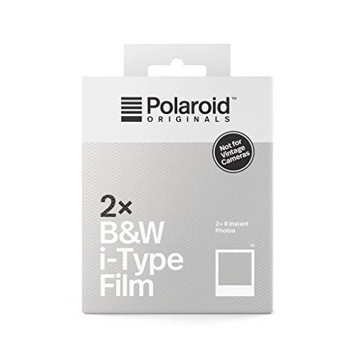 Polaroid Originals 4838 - Película i-Type N&B (Paquete Doble) Marco Blanco