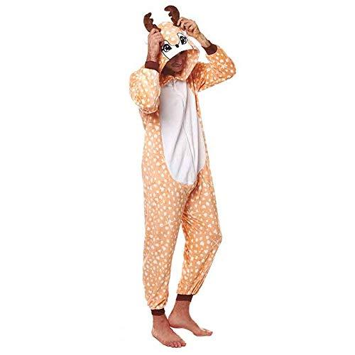 Disfraz Pijama Ciervo Adulto Unisex (M) (+ Tallas Disponibles)