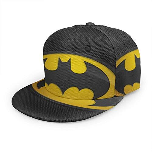 Gorra de béisbol clásica para Adultos Bat-Man Sombreros Unisex de Hip Hop con diseño de Pico Plano Snapback
