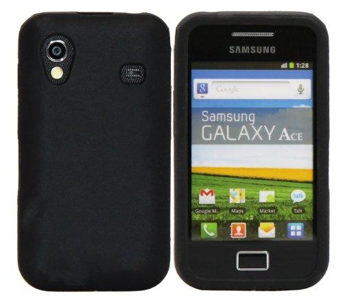 Luxburg In-Colour Design Custodia Cover per Samsung Galaxy Ace GT-S5830 colore Nero, in silicone