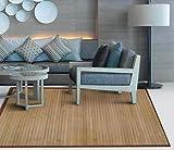 TIENDA EURASIA Alfombra de Bambú - Alfombras Fabricadas en Madera de Bambú Ecológica - Disponibilidad en 2 Colores - Ideal para Cualquier Estancia del hogar (Natural, 120 X 180 CM)