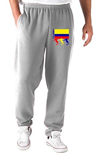 T-Shirtshock Pantaloni Tuta Grigio T0706 Colombia Calcio Ultras