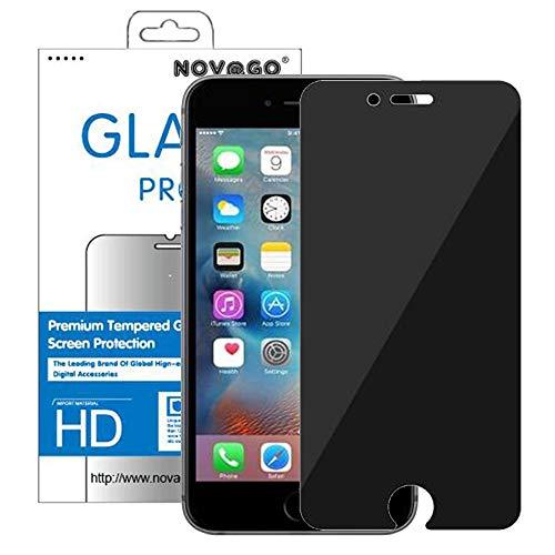 Novago - Protector de pantalla de cristal templado resistente para iPhone 7 Plus y iPhone 8 Plus (5,5 pulgadas), compatible con función 3D Touch