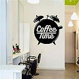 Wandaufkleber Coffee Shop Logo Fenster Glas Kunst Wandbild Kaffeetasse Vinyl Wandaufkleber42x44cm