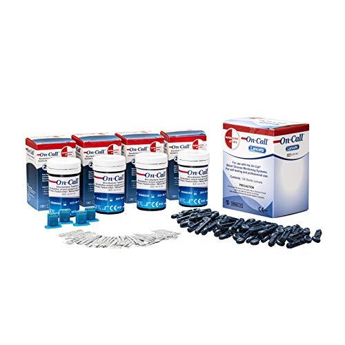 Swiss Point Of Care Ketone Bundle - Teststreifen & Lanzetten in einem Paket |100 Ketone Teststreifen + 100 Lanzetten | zur Überwachung der Ketonwerte mit dem GK Dual Messgerät | perfekt bei Keto Diät