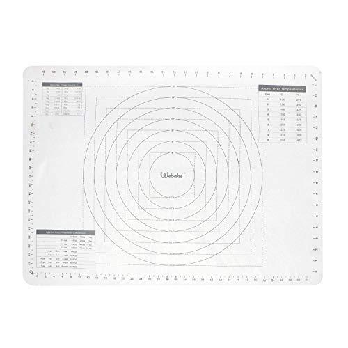 Webake Tapete de Silicona para Hornear y Amasar 70 x 50 cm...