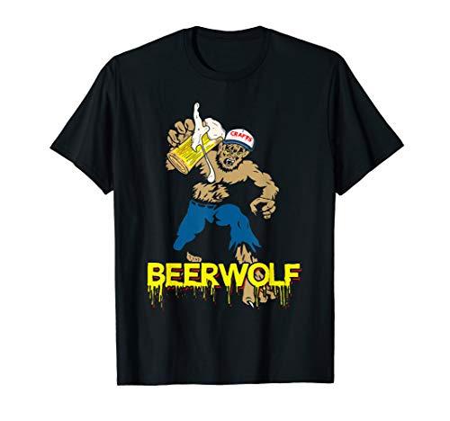 BeerWolf - Wolf mit Becher Bier Lustiges Halloween-T-Shirt T-Shirt