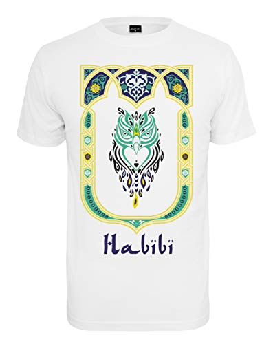 Mister Tee Herren Habibi Owl T-Shirt, White, M