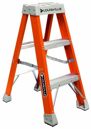 Louisville Ladder FS1503 Fiberglass Step Ladder, 3-Feet, Orange