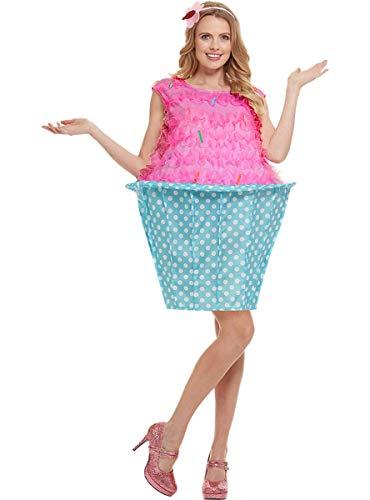 Funidelia   Disfraz de Cupcake para Mujer Talla XL ▶ Madalena, Dulce, Comida, Postre - Color: Rosa - Divertidos Disfraces y complementos para Carnaval y Halloween