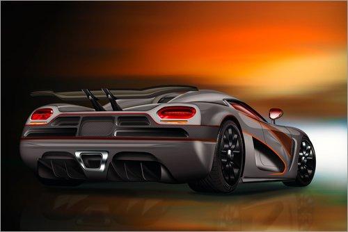 Posterlounge Acrylglasbild 60 x 40 cm Sportwagen von Kalle60 - Wandbild, Acryl Glasbild, Druck auf Acryl Glas Bild