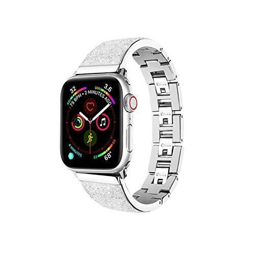 LWHAMA Lwwhama para la Correa de Reloj de Apple 6/5/4/3 Generación Pulsera Correa de Acero Inoxidable Iwatch SE 38 mm42 mm Banda de Reloj de Apple 44mm40mm Pulsera