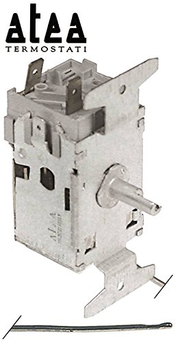 ATEA A03 0045 Termostato para jacuzzi máx. Sensor de temperatura de -25 °C, diámetro de 2 x 20 mm, -13° a -25°C, fijación 68 +5°C