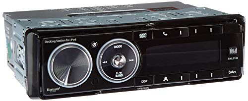 Dual Electronics XML8100 AM/FM Car Dashboard Mechless Receiver with iPod Docking Station, BT Ready, SWI, iPlug, and Remote (Black)