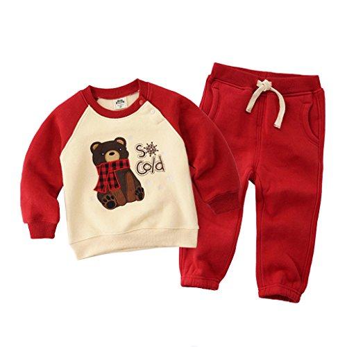 Vine Trading Co.,Ltd Vine Jungen Mädchen Sweatshirts und Hosen Baby Bekleidungssets Langarmshirt Sweathosen Kind-Outfits Sport