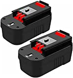 2 Pack Upgraded 3.6Ah HPB18 Replacement for Black and Decker 18V Battery Compatible with Black&Decker 18 Volt 244760-00 A1718 FS18FL FSB18 Firestorm Cordless Power Tools