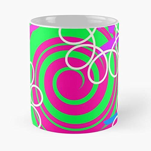 Herrera Art R Colorful Chromatic by Sixties Psychedelic Carla 1960S Retro Best Mug hält Hand 11oz aus weißer Marmorkeramik