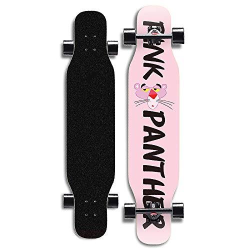 YQQ-MOTIUN Longboard Skateboard 42in Long X 9 Pouces Large Pont Maple Dancing Longboard Fait pour Les Adultes, Les Adolescents et Les Enfants Design Charge Maximum 440 Livres