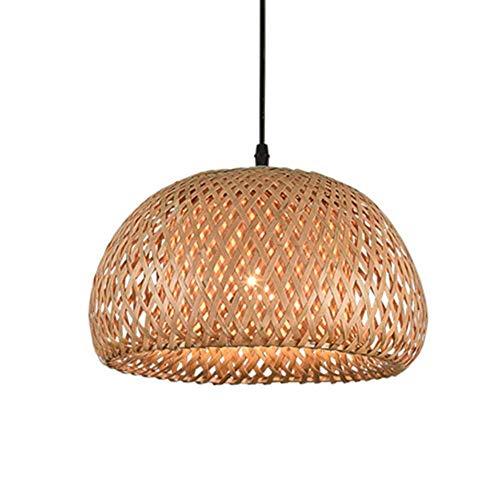 Candelabro tropical de bambú, lámpara de techo de mimbre natural, lámpara de techo de ratán, para salón, bar, cafetería, restaurante, lámpara de techo (tamaño: StyleB)