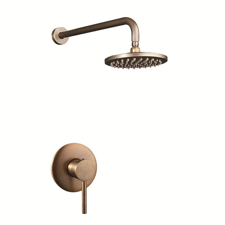 年齢スコットランド人有名なLIZANAN 浴室水栓 隠されたシングルすべての銅のシャワースイートには、アンティークのベッドと繊細な朝食のホテルバスルーム壁のシャワーが付いています サーモシャワー混合栓