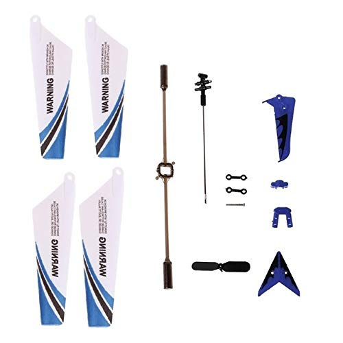HONG YI-HAT for Syma S107G S107 RC Helicopter Spare Parts Main Blades, Tails, Props, Balance Bar, Shaft, Replacement Gear Accessories Drone Spare Parts (Color : Blue)