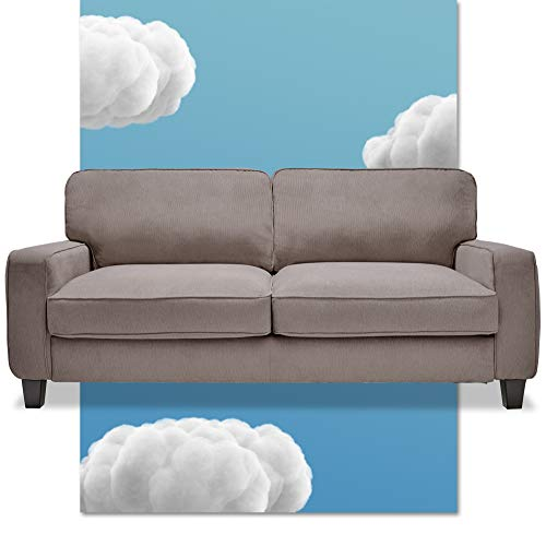 """Serta Palisades Upholstered Living Room Couch 78"""", Grey Now $280(Was $470)"""