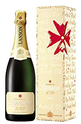 Lanson Ivory Label Demi Sec Champagne Non Vintage Gift Box 75cl