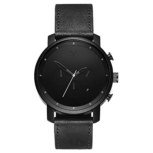 MVMT Herren Chronograph Quarz Uhr mit Leder Armband D-MC01-BL
