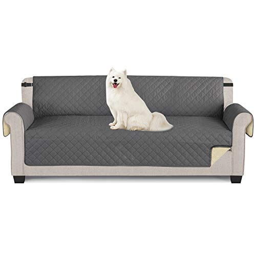 TAOCOCO Funda de sofá Impermeable Funda de cojín de protección para Mascotas Funda de sofá antisuciedad (Gris Oscuro/ 4 Plazas 195 * 218cm)
