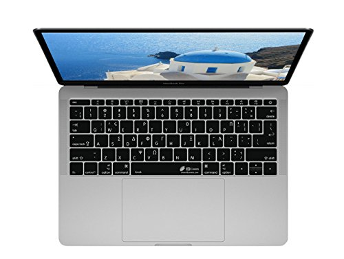 Cubierta del Teclado Griego ISO, para MacBook Pro sin Touch Bar (Late 2016)
