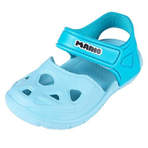 Comwarm Baby Girl Boy Summer Shoes Closed Toe Lightweight Sandals Anti-Slip Beach Shoes for Toddler 1-5 Years Old LB15