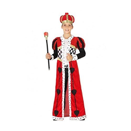 Atosa - Disfraz de rey de corazones, talla M, 5-6 años (111-26952)