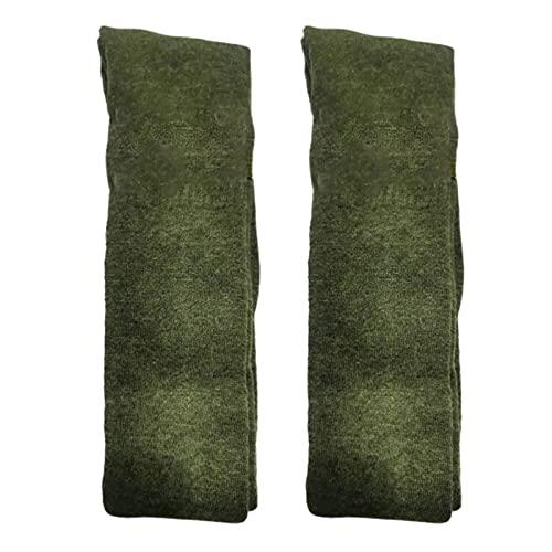 Rutaqian Medias de invierno, por encima de la rodilla, calcetines largos y casuales de muslo, medias extra gruesas, cálidas, calcetines térmicos para mujeres y niñas, color verde