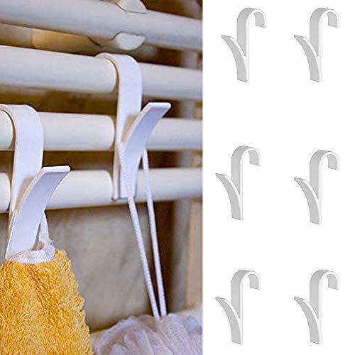 Porcyco Ganchos para radiador, 6 piezas Gancho para baño que ahorra espacio, Soporte para radiador, para colgador de radiador tubular con toallero calefactable, para bufanda - Blanco