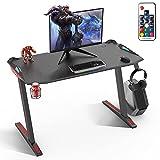 SOUTHERN WOLF Gaming Tisch, Gaming Schreibtisch Mit RGB Beleuchtung, Gaming Computertisch...