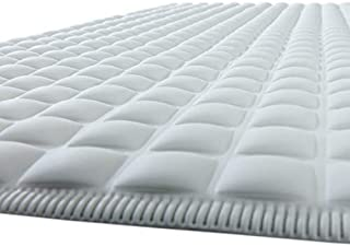 SlipX Solutions Gray Pillow Top Plus Safety Bath Mat Provides The Very Finest in Cushioned Comfort and Slip-Resistance (400+ Air-Filled Pockets, 200 Suction Cups, Natural Rubber)