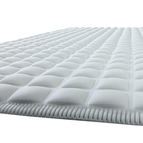 SlipX Solutions Gray Pillow Top Plus Safety Bath Mat
