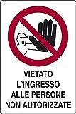 CARTELLO VIETATO L'INGRESSO AI NON AUTORIZZATI 20 X 30 CM in PVC (1)