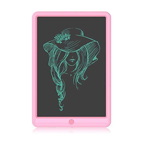 Tableta de Escritura LCD de 13 Pulgadas, Ewriter Colorido Tablero de Dibujo Borrable, Tablero de Escritura Reutilizable, Tablero de Escritura Electrónico para Niños y Niñas, Regalo Educativo(Rosa)
