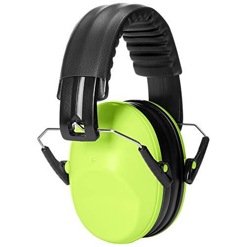 AmazonBasics Kids Ear Protection Safety Noise Earmuffs, Yellow