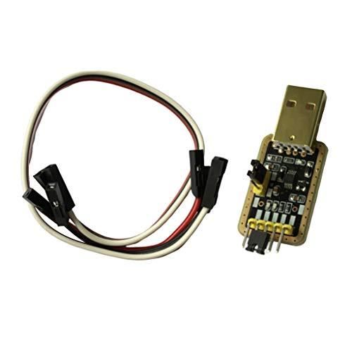B Baosity 3.3V 5V USB A RS232 TTL Convertidor CH340G Placa De Módulo De Adaptador Serie UART, 3.3V 5V Salida De Potencia Dual, Dorado