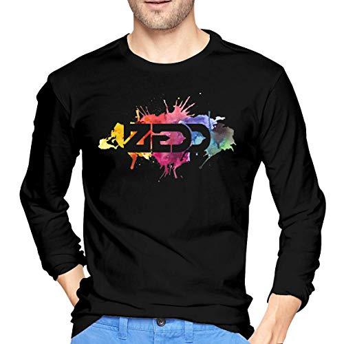 Qin Tong Langärmliges Herren-T-Shirt Mens Cool Zedd Long Sleeve T Shirts Black Unique Design