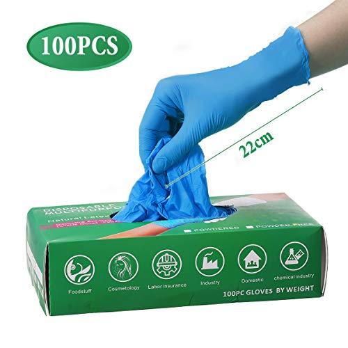 gracosy Handschuhe Einweg 100 Stück Nitrilhandschuhe Einweghandschuhe L/M Schutzhandschuhe Untersuchungshandschuhe Hygienehandschuhe in Lebensmittelqualität, Backen Industrie Körperpflege