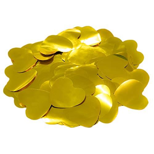 Confeti Corazones Brillo 4,2 cm. | Bolsa 100 gr. (Dorado) |